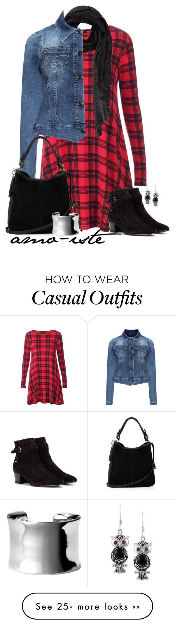 """""""Denim Jacket - Plus Size"""" by amo-iste on Polyvore featuring Yves Saint Laurent, Zizzi, Oasis, Nordstrom and Jewel Exclusive"""