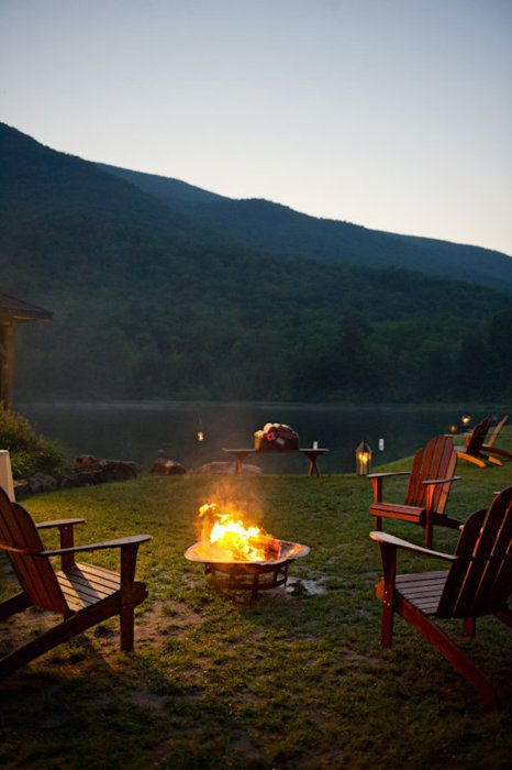 Bonfire in the mountains <3: Bonfires, Dreams, Lakes Houses, Outdoor, Places, Campfires, Firepit, Summer Night, Fire Pit