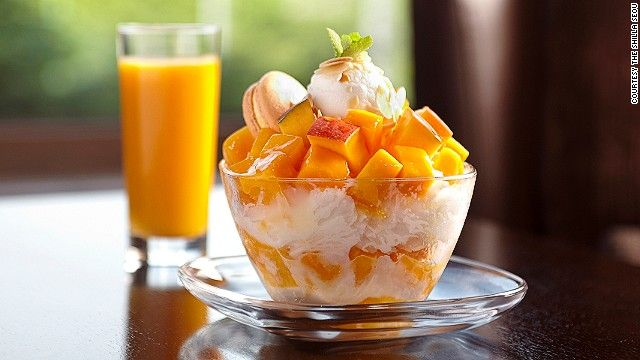 "Shilla Seoul's apple mango bingsu. ""We use the highest quality apple mangoes from Jeju Island and have opted to use a minimum amount of ingredients to keep the taste very clean and healthy,"" says hotel a representative."