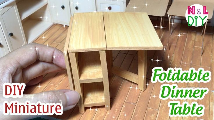 DIY Miniature Foldable Dinner Table | How to make Foldable Dinner Tablle...