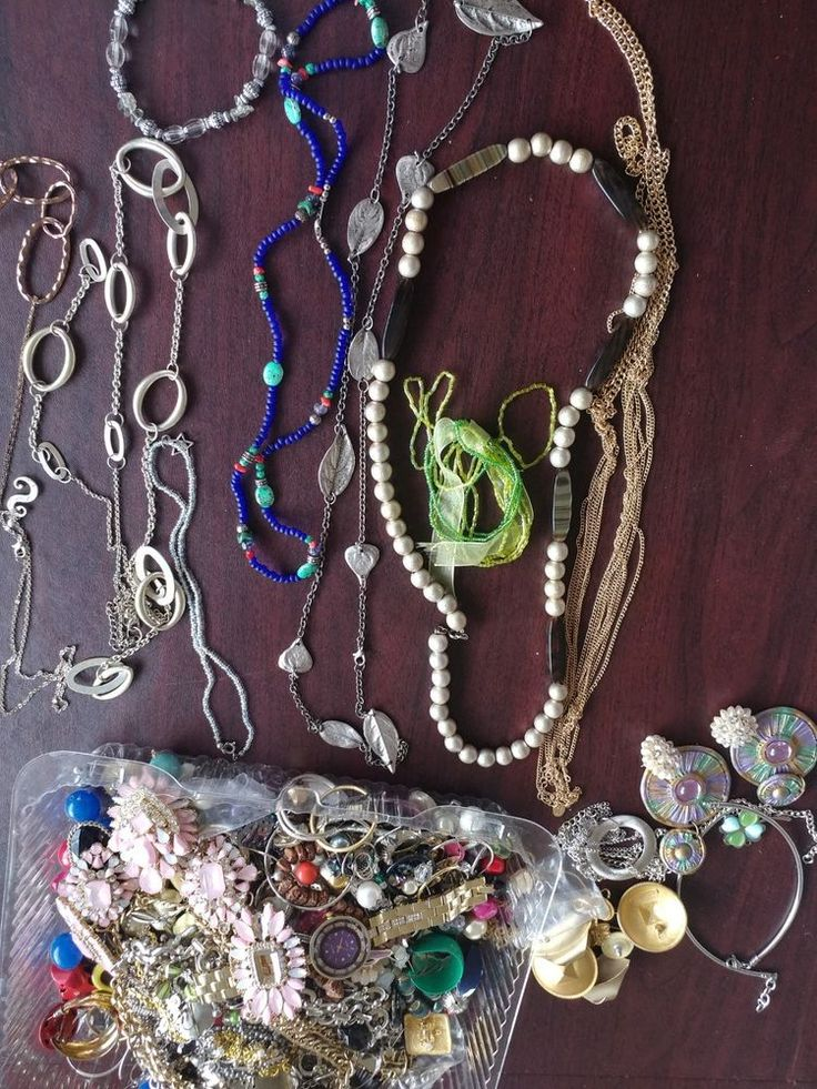 Jewelry Lot 4+ LB Some Broken Some Good For Jewelry Makers Sterling Silver Value