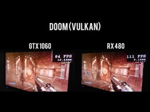 GTX 1060 VS  RX 480  12 Games Tested!! DX12, DX11, Vulkan OpenGL DOOM -g...
