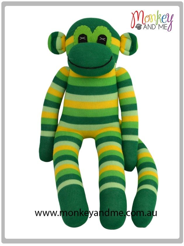 Aussie the Sock Monkey Adopt over at monkeyandme.com.au #sockmonkeys #gifts #toys #monkey