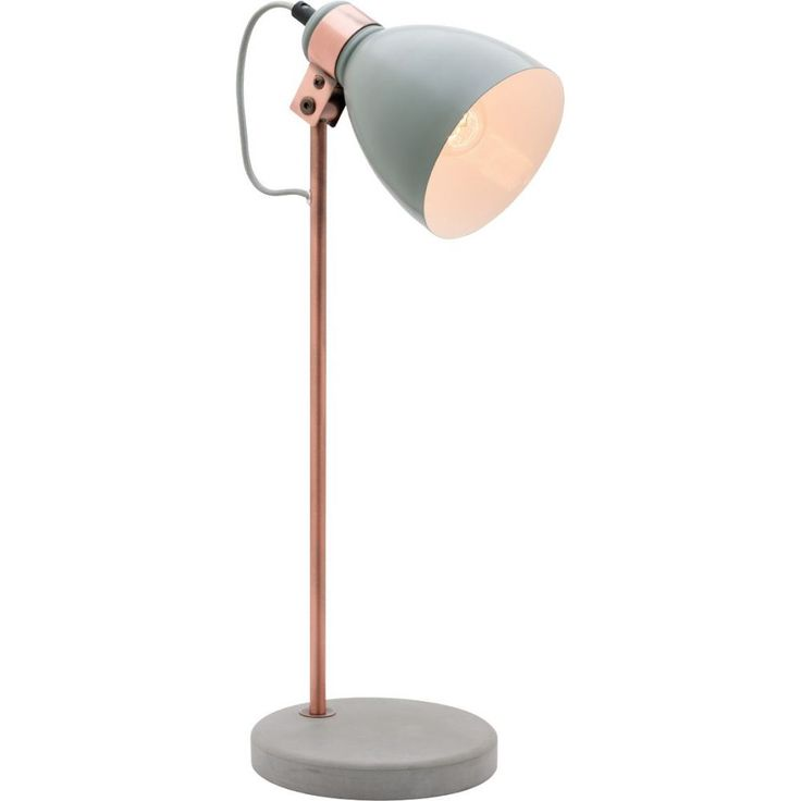 Part of a wonderful range of product in the Summer 2015 releaseTable and Floor Lamp RangeMatt Grey Shade with Antique Copper Metal and Concrete BaseTable Lamp: 20x16xH50cmShade: 12.5xH18cmBase: 16.5xH2.5cmLamp source: E27 Max 25W