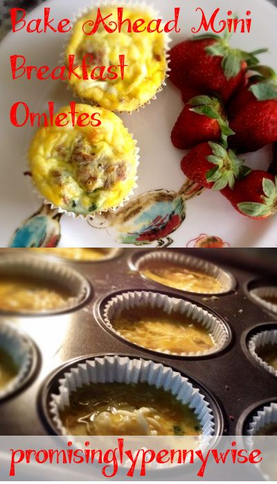 Easy egg muffins. Bake these mini omelets on the weekend for a quick and healthy breakfast throughout the week!