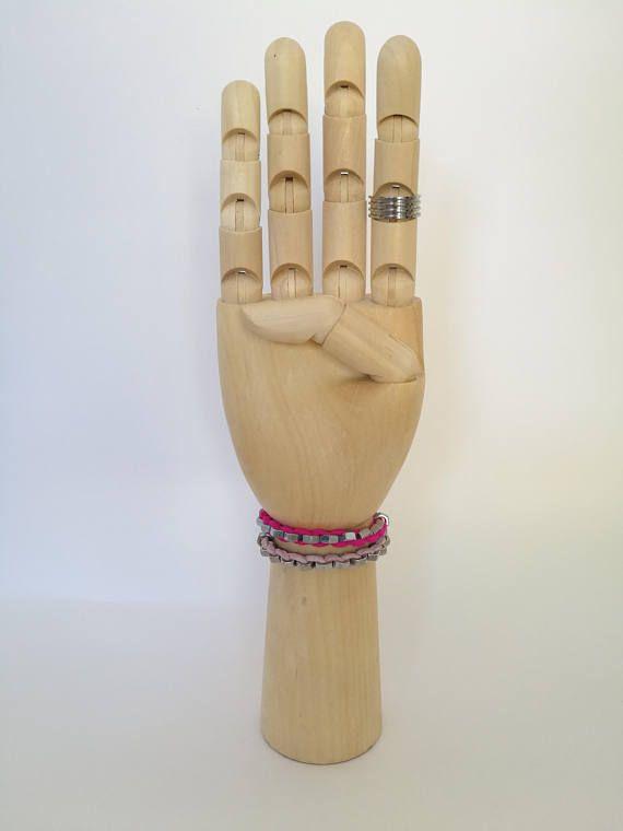 Τhe PinkCombo - Handmade bracelets with stainless hex nuts and suede leather cord , mix them , save your money and impress everyone!