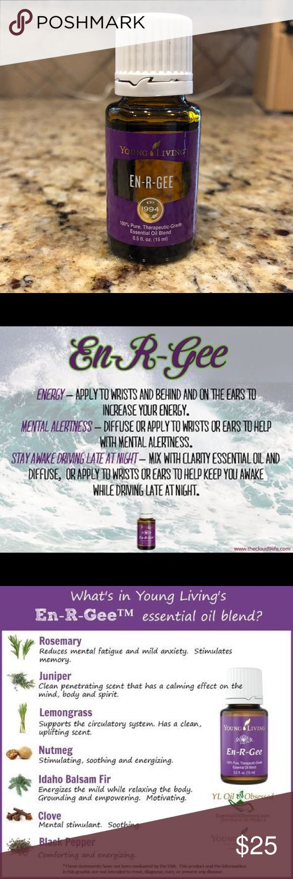 En-R-Gee essential oil from Young Living Brand new never opened En-R-Gee essential oil from Young Living... 15ml Young Living Other