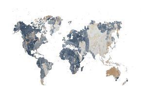Wij geven je het frame, de contouren van de continenten en de grenzen van de landen, jij kan het vullen met wat je maar wilt.De Battered Wall geeft een ruwe structuur.