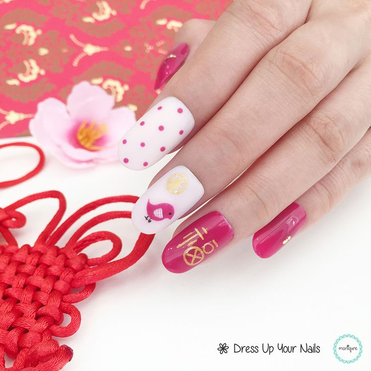 Chinese New Year Nails - CNY Manicure