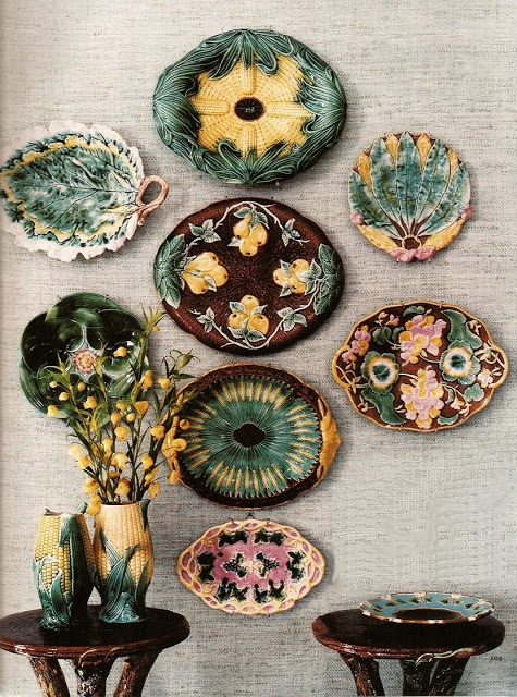 Majolica plates are a popular collectible.