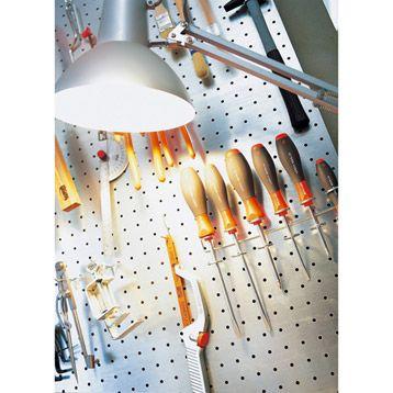 panneau perfor en acier mottez rangements h2ome pinterest panneau perfor panneau et. Black Bedroom Furniture Sets. Home Design Ideas