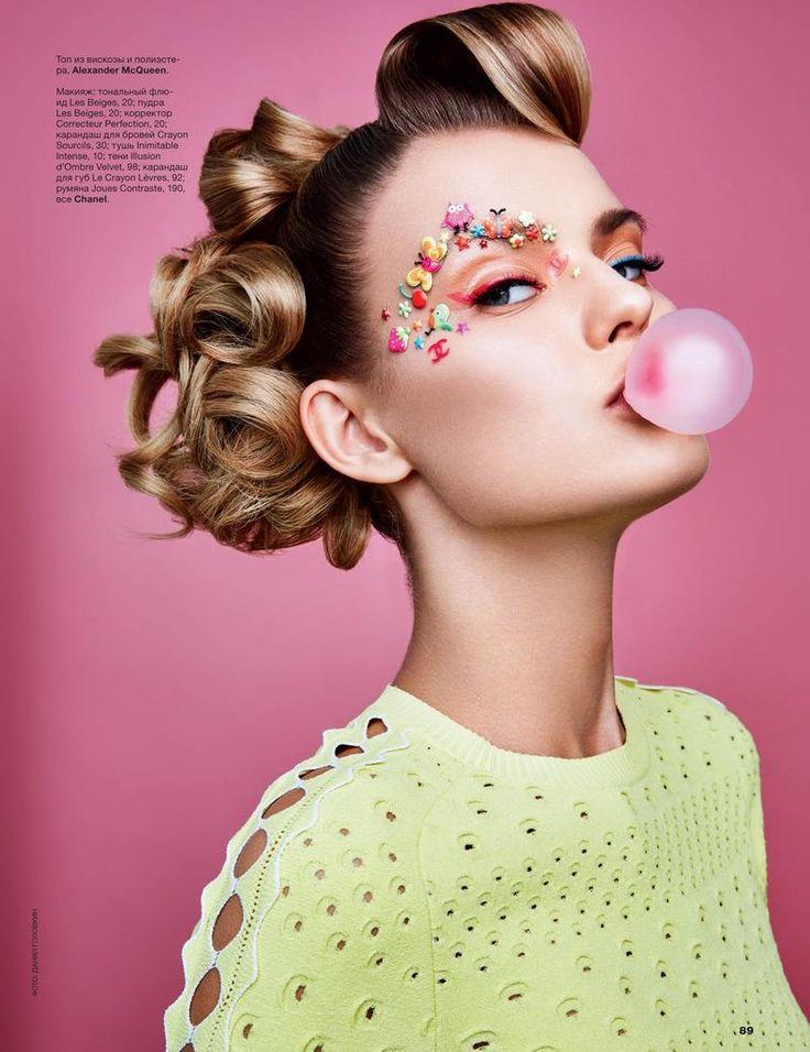 """Barbie: Fun Time!"" Kate Grigorieva by Danil Golovkin for Allure Russia April 2016 [Beauty]"