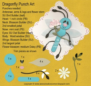 Alex's Creative Corner: punch art dragonfly instructions