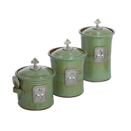 32 best images about fleur de lis kitchen canisters on