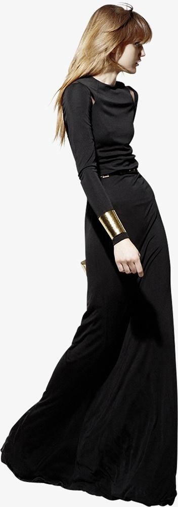 black with a single gold cuff- Elie Saab Resort 2013