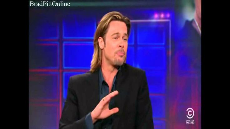 Brad Pitt - The Daily Show with Jon Stewart - 02/01/12-Money Ball