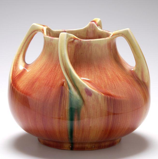 R 214 Rstrand Four Handled Vase C 1902 15cm H R 246 Rstrand
