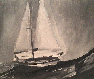 auf hoher See II | on high seas II acrylics on wood