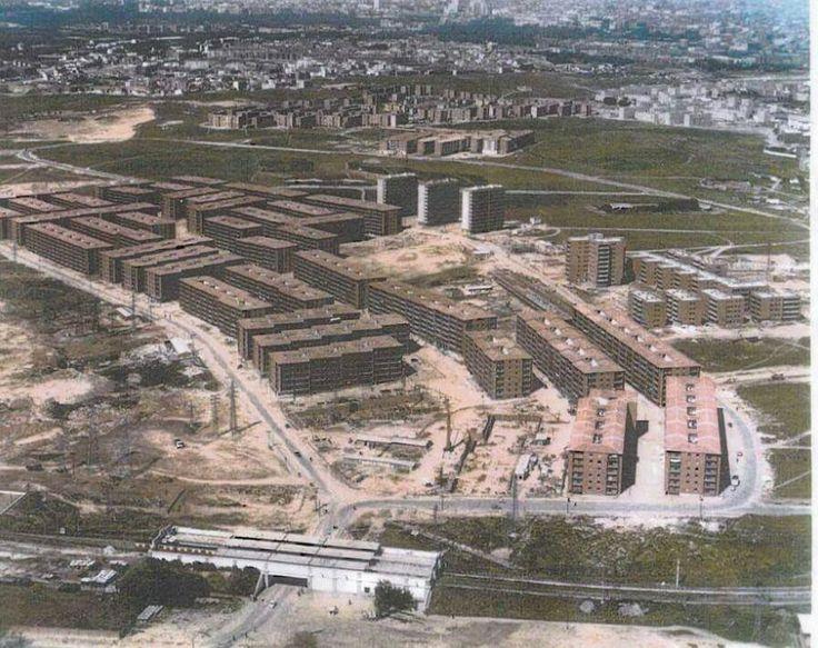 Foto aérea de Aluche (años 60)