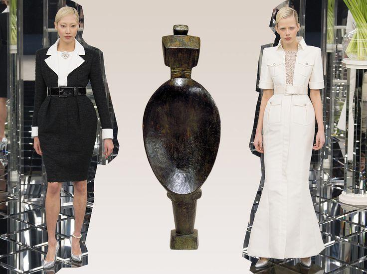 Chanel Couture весна-лето 2017. Скульптура «Женщина-ложка», Альберто Джакометти, 1926 (отливка 1954)
