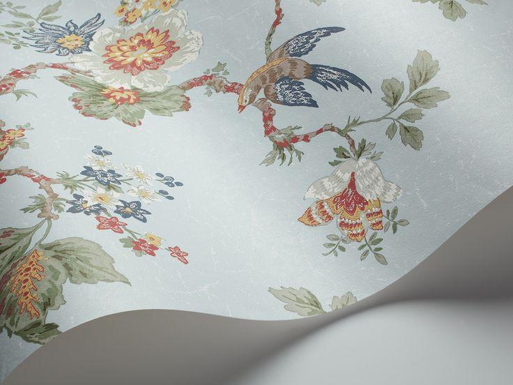 falsterbo 1402 vlies tapete mit fansanen und blumen zartblau historisch ikea katalog 2014. Black Bedroom Furniture Sets. Home Design Ideas