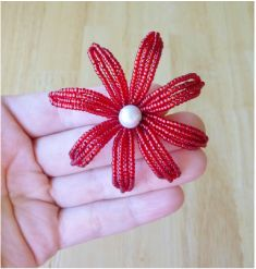 french beading technique tutorial - continuous crossover loops