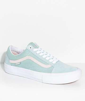 4e0b322449 Vans Old Skool Pro Dan Lu Light Green   Pearl Skate Shoes