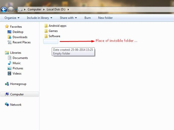 How to Create An Invisible Folder