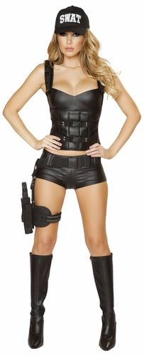 hot swat baby costume sexy swat women costume roma 4498 - Swat Costumes For Halloween