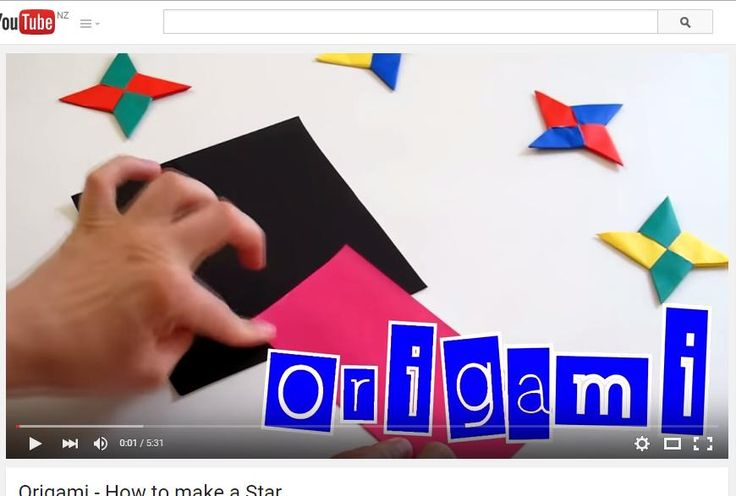https://www.youtube.com/watch?v=m1c7FIQt5UE  How to fold star (useful for Matariki)