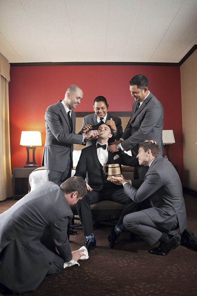 30 Awesome Groomsmen Photos You Can't Miss ❤ See more: http://www.weddingforward.com/groomsmen-photos/ #wedding