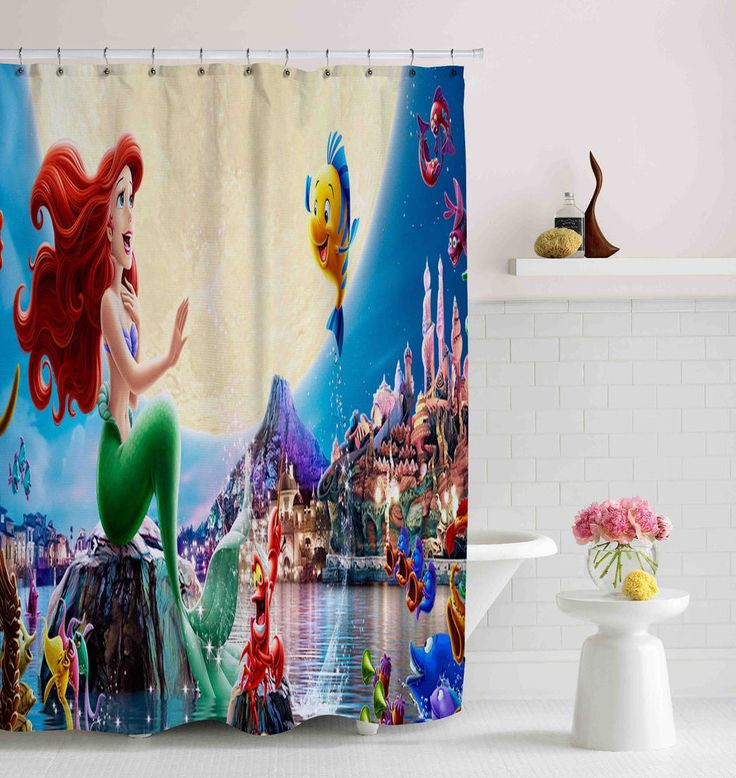 "Cute Little Mermaid Disney Custom Shower Curtain 60""x72"" High Quality #Unbranded #Modern #fashion #Style #custom #print #pattern #modern #showercurtain #bathroom #polyester #cheap #new #hot #rare #best #bestdesign #luxury #elegant #awesome #bath #newtrending #trending #bestselling #sell #gift #accessories #fashion #style #women #men #kid #girl #birthgift #gift #custom #love #amazing #boy #beautiful #gallery #couple #bestquality #mermaid #disney #cartoon #movie"