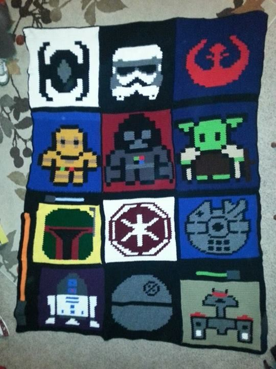 Crocheted Star Wars Blanket