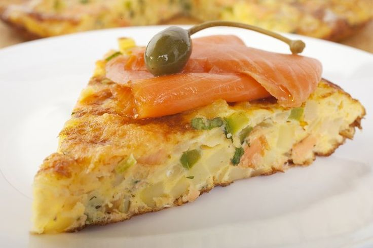 ***Crustless Quiche - I substituted with asparagus, leeks and ham (no salmon). Delish!