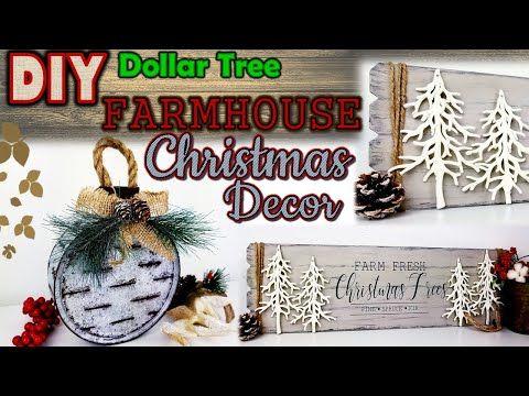 DOLLAR TREE DIY | FARMHOUSE CHRISTMAS DECOR | SLOT…