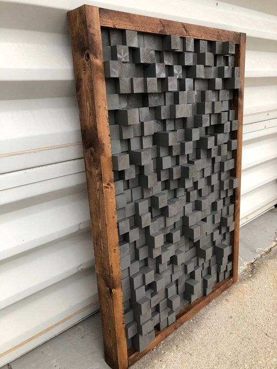 Reclaimed Wood Sound Diffuser Acoustic Panel