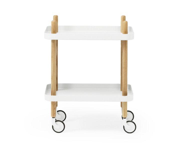 Servírovací stolek Block Table od Normann Copenhagen, bílý
