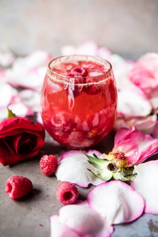 raspberry and rose, tequila kombucha cocktail via @refinery29