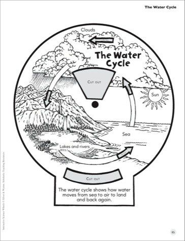 the water cycle interactive science wheel printables