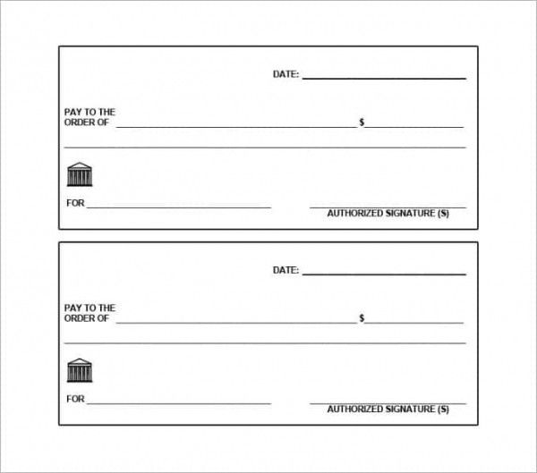 Printable Blank Check Template Unique 24 Blank Check Template Doc Psd Pdf Vector Formats Blank Check Printable Checks Templates