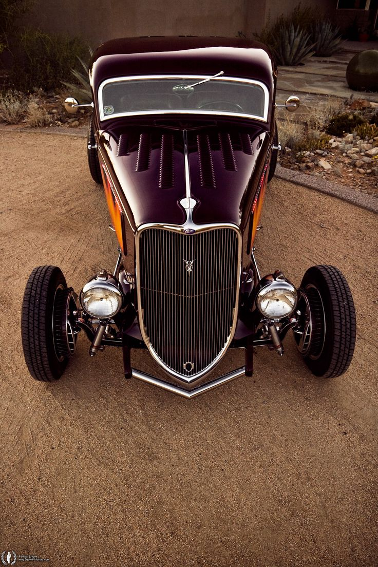 1933 Ford Coupe Custom  Just might be my favorite classic hot rod! The lines the simplicity the elegance of the improvements onto a formerly crude but effective chassis. Awesome.