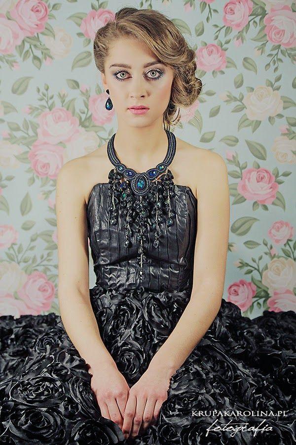 Kolia deszczowa  [modelka: Laura Sara Cieślik, foto: Karolina Krupa, make up: Agata Oz, fryzura: Agnieszka Roszczewska, sukienka: MA.YA fashion]