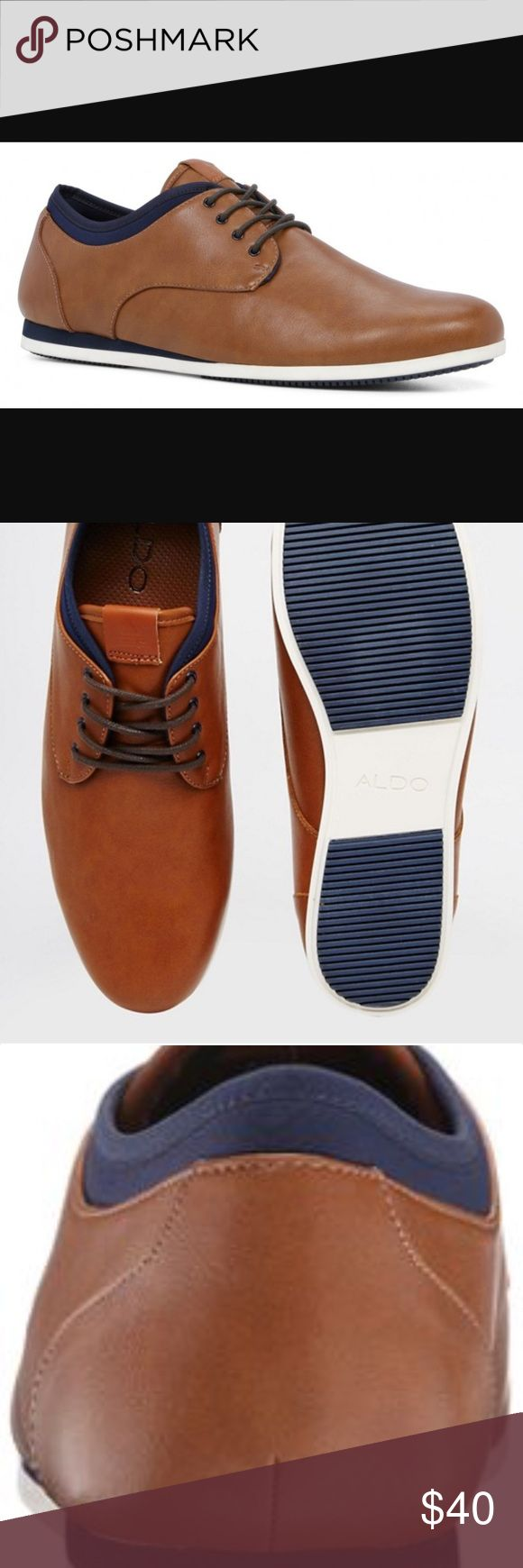 ALDO Erme-28 Aldo Men's Aauwen-r Oxford Product Details Color: Cognac / Navy / White Size: 8. US Aldo Shoes Oxfords & Derbys