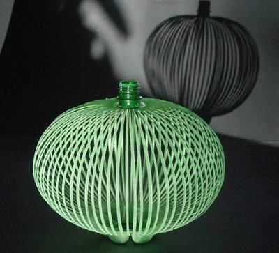 Lamp made ​​with PET bottle