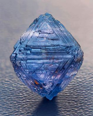 Blue Octahedron Spinel w/ natural growth marks from Sri Lanka