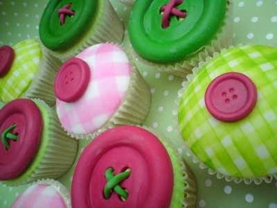 Cute as a button cupcakes By slean on CakeCentral.com