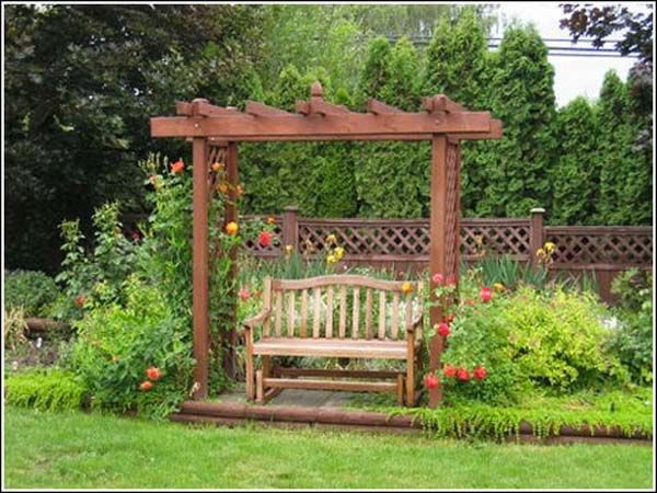 Small Pergola With Bench Nice Retreat For The Home