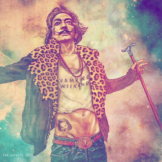 Salvador Dali Fab Ciarolo Icons as Hipsters