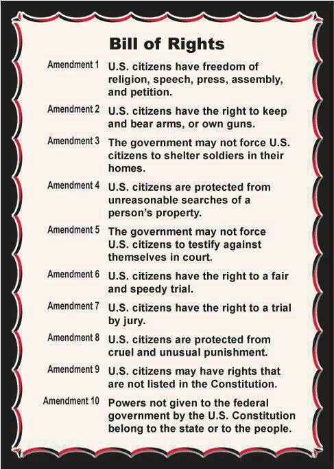 Our constitutional rights!