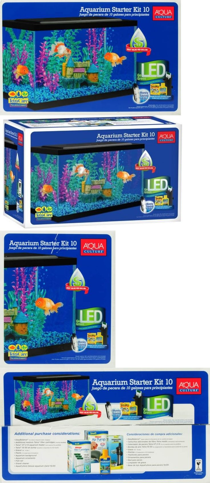 Aquarium fish tank starter kit - Animals Fish And Aquariums Aquarium Fish Tank 10 Gallon Starter Kit With Led Light